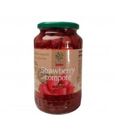 Jordgubbskompott (juice med frukt i) 1L.