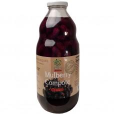 Mullbärskompott (juice med frukt i) 1L.