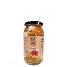 Persikokompott (juice med frukt i) 1 L.